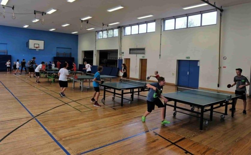 Training in der Sporthalle der GGS Hohe Straße